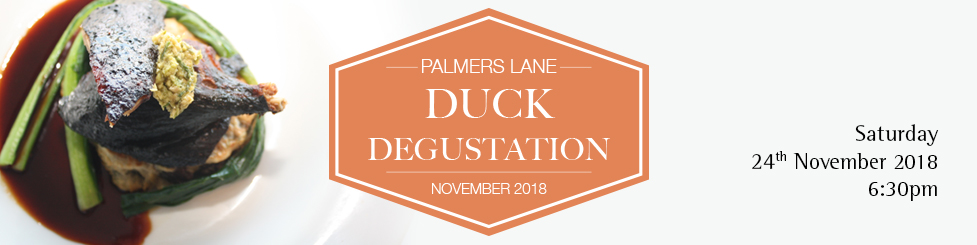 Bimbadgen Palmers Lane Duck Degustation